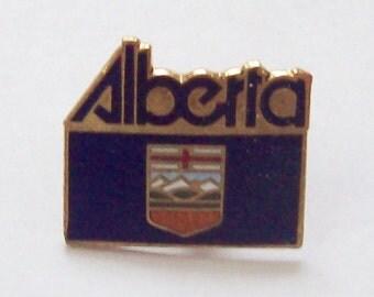 Alberta Canada Souvenir Pin Enamelled Flag