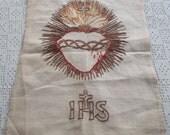 Vintage Embroidery Sacred Heart