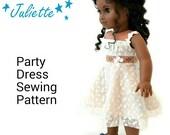 "Summer Grace Sewing Pattern by Dollhouse Designs for 18"" Dolls Sundress Dress DIGITAL DOWLLOAD"