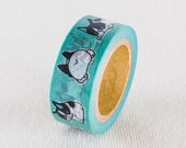 New-Japanese Washi Masking Tape / Sunny Bulldog for scrapbooking, packaging, party deco, card making