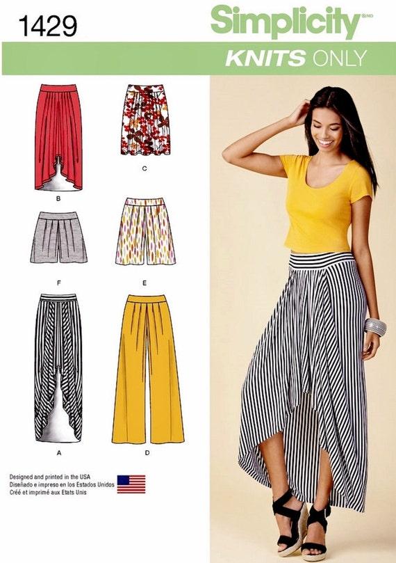pull on high low skirt pattern wide leg pants pattern