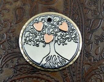 Tree of Life-Custom Dog Tag-Handmade Tree of LifePet ID Tag-Dog Collar ID Tag