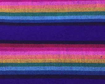 Ethnic Mexican Colorful Purple Stripes Serape Sarape Designs Fabric Yard Tribal