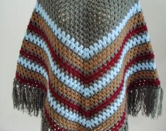 Crochet style poncho
