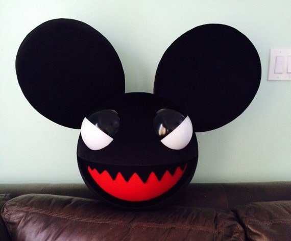 black evil mouse head costume cosplay rave deadmau5 inspired - Deadmau5 Halloween Head