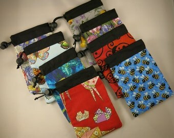 Choose Your Own Notions Bag / trinket pouch / trinket bag / cotton bag / knitters gift / sewing notions / knitting notions / party favour
