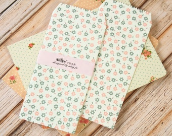 Colorful Flowers Tall Envelopes