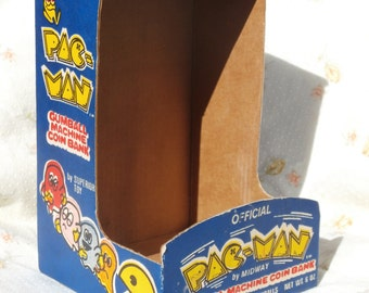 Vintage Empty Box for Pac-Man Gumball Machine Coin Bank