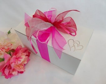 PICK Your RIBBON COLORS!!, Wine Glass Gift Boxes, Gift Box for Wine Glasses, White Gift Boxes, Gift Wrap, Champagne Gift Boxes, Wedding Gift