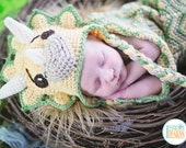 CROCHET PATTERN Cera Tops The Triceratops Dino Baby Hat and Cocoon Set PDF Crochet Pattern with Instant Download