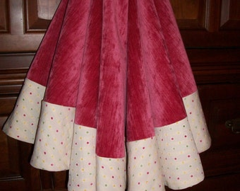 """Candyland Inspired 58"""" Dots and Pink Velvet Reversible Christmas Tree Skirt 2016 Collection"""