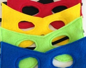 Children's Felt Superhero Mask - Handmade, Kid's, Child's, Dress Up, Costume, Halloween, Villain