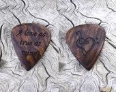 Custom Order - Handmade Caribbean Rosewood Laser Engraved Premium Guitar Pick