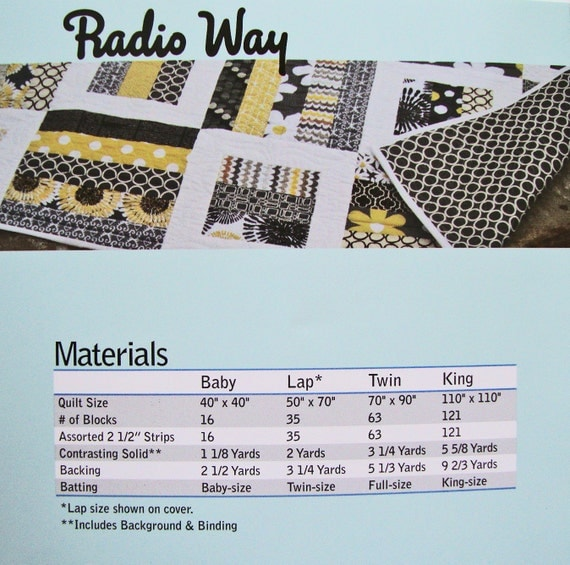 RADIO WAY Quilt Pattern - Jaybird Quilts - Jelly Roll Friendly Quilt Pattern from Jambearies on ...