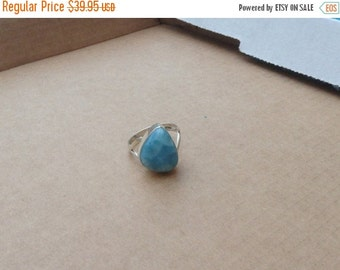 ON SALE Larimar Jewelry Larimar Ring Size 7 3/4 Sterling Silver 925  Fashion jewelry
