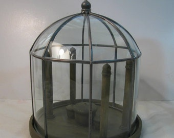 Fantastic Domed Display Case  By Hen Feathers Co. -  Perfect for Creating Fairy Garden - Etc.