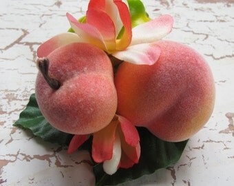 Fruits hair Clip - Star fruit - peaches -Carmen Miranda Style - Burlesque - Retro - Rockabilly
