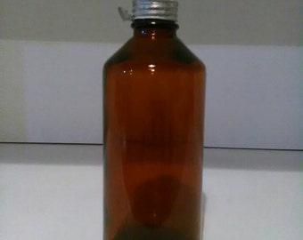 Bottle with aluminum cap