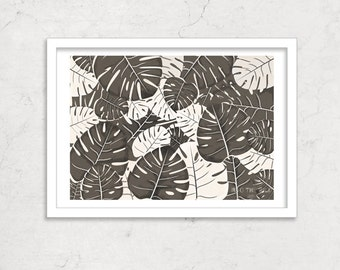 Monstera Plant Print, Limited Edition Graphic Poster
