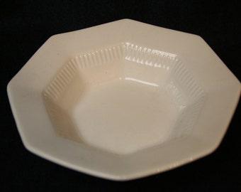 Independence White Ironstone Berry Bowl Castleton One Bowl for Fruit or Dessert Octagonal