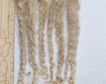 Blonde Mohair Locks / Raw Mohair Doll Hair Locks / Unwashed Angora Mohair / 667YD1