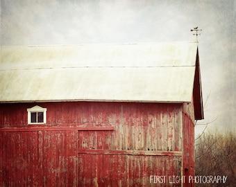 Red Barn Photo, Rustic Home Decor, Farmhouse Decor, Country Home Decor, Farm House Decor, Landscape Wall Art, Farm Home Decor