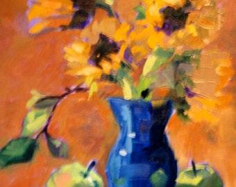 Custom Still Life Painting - Many Sizes - Modern Impressionist Original Oil Painting by Rebecca Croft