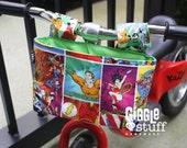 Bike Accessory, Superheroes Kid Bike Basket, Green Interior