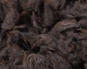 Dark Rose Grey Alpaca Fleece