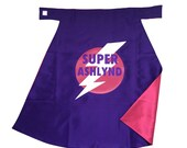 Personalized Superhero CAPE with custom name GIRL or BOY - many color options