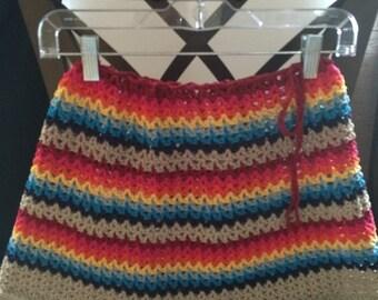 Crochet Skirt, Women Colourful Crochet Skirt, Women Clothing, Cotton Skirt, Summer Skirt, Lady Dee Swimwear Collection