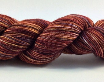 Hand dyed sock yarn - Mulled Cider 1