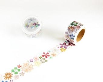 Flower color Chamil garden washi tape 25mm x 10M washi masking tape