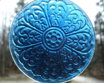 Vintage design Mandala stained glass jewel