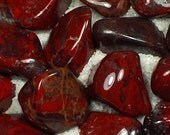 Brecciated Red Jasper Tumble Polished Crystal Stone, 1 pc, Sizes 1 to 1.25 Inch, TS764