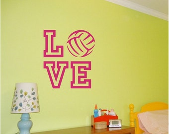 Volleyball Wall Decal LOVE