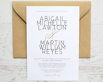 Abigail Custom Wedding Invitation