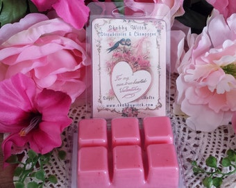 Strawberry & Champagne Tarts, Valentines Tarts, Valentine Melts, Soy Melts, Soy Tarts