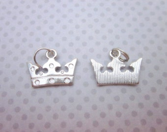 Queen Charm -- Royal Charms -- Crown Charm Supply -- Silver Crown Charms -- Metal Crown Charms -- Small Silver Charms -- Charm Supply