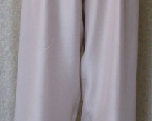 Women's Lounge Pants, MADE in the USA, Embroidered Beige, Satin on the inside for a Sexy, Sensual Feeling