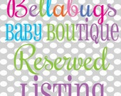 Reserved Listing for kaylalamb5