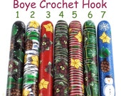 Boye Polymer Clay Covered Crochet Hook, Winter/ Christmas Design