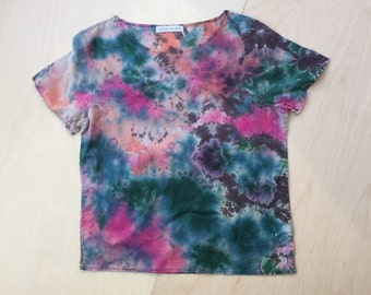Tropical Hand Dyed Cotton Top