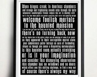 Digital Download - 8 x 10 inch print - Haunted Mansion - Subway Art