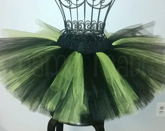 Black and lime Green Tutu,black and lime green tutu,green and black tutu,Halloween tutu,girls tutu,birthday tutu,flower girl tutu,tutu