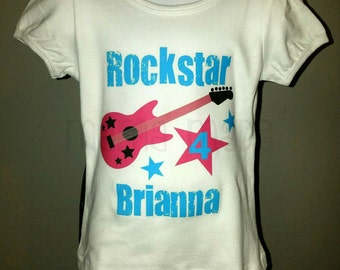 Rockstar Birthday Shirt or Bodysuit,girls birthday shirt,Rockstar birthday,girls Rockstar shirt,girls Rockstar birthday shirt,Rockstar tee
