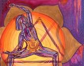 Yoga Art Print - Sacral Chakra - yoga wall art, yoga space decor, yoga artwork, yoga gift
