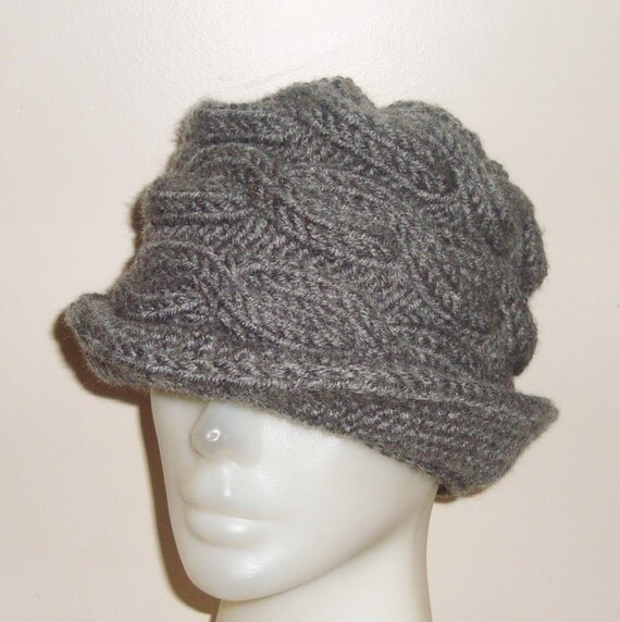 grey womens fedora hat grey hat cable beanie with by