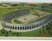 Municipal Football Stadium Sport Birmingham Alabama postcard