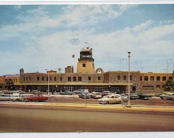 International Airport Terminal El PasoTexas 1961 postcard